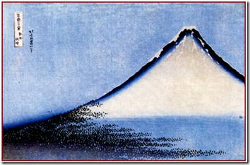Белая Фудзи из серии «Тридцать шесть видов Фудзи»
