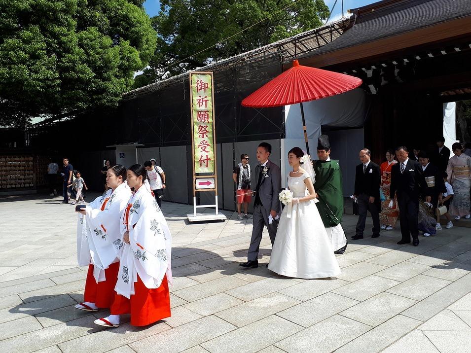 Свадебная церемония в Мэйдзи Дзингу